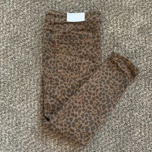American Eagle Cheetah Print Jeans